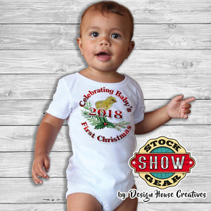 Baby's First Christmas Baby Chick Infant Bodysuit