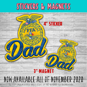 FFA™ Dad Stickers and Magnets