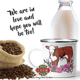 Enamel Hereford Calf Camp Cups