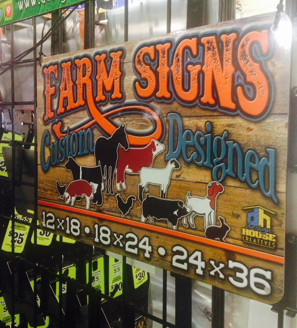 Stall and Farm Signs