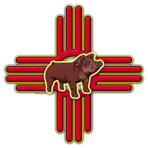 New Mexico Duroc Pig Instant Digital Download