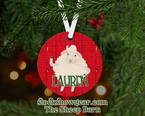 Cute Sheep Personalized Ornaments