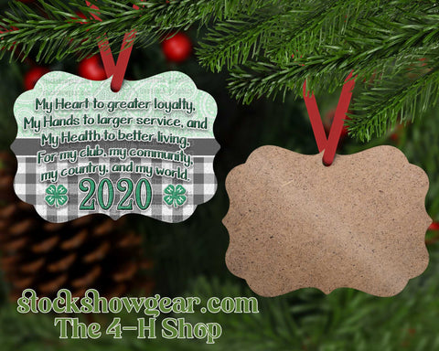 4-H Personalized Ornament - Pledge