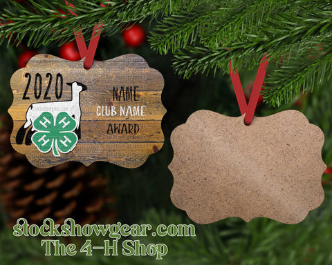 4-H Personalized Ornament - Wood