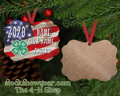 4-H Personalized Ornament - USA