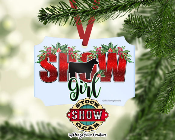 Show Girl Livestock Ornament