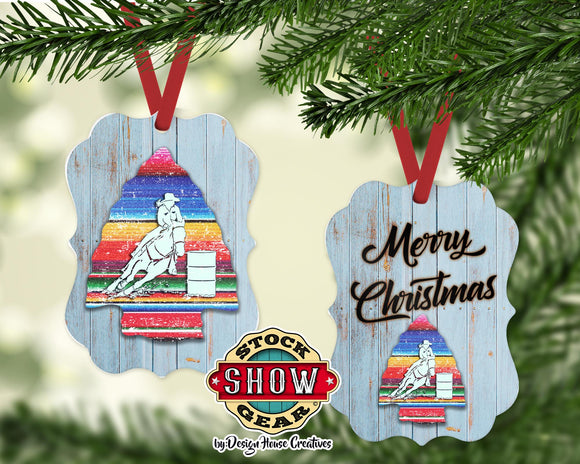 Barrel Racer Serape Arrow Ornament