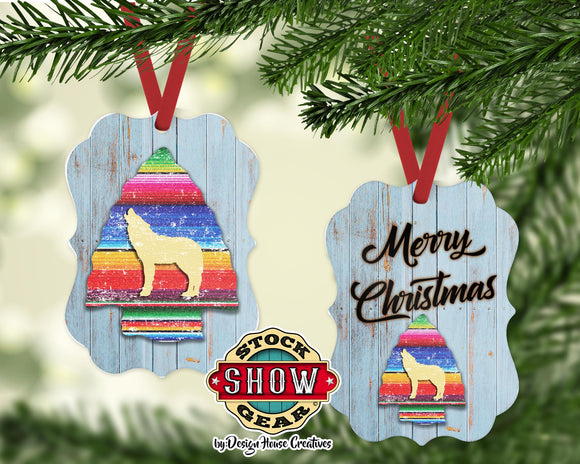 Howling Wolf Serape Arrow Ornament