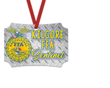 FFA™ Silver Diamond Plate Ornament