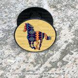 Navy Tribal Running Horse Design