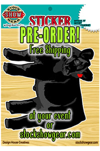 Outdoor Angus Steer/Heifer Sticker