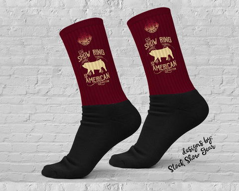 American Tradition-Down Eared Pig-Show Ring Socks