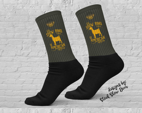 American Tradition-Goat-Show Ring Socks