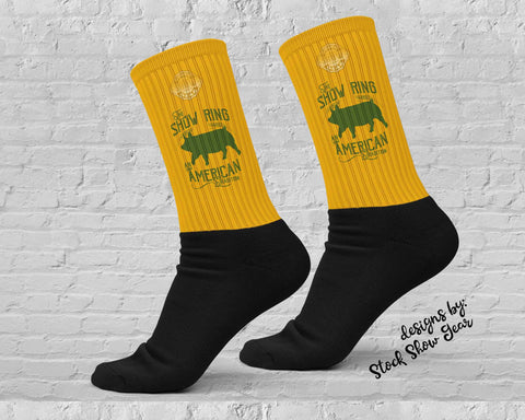 American Tradition-Up Eared Pig-Show Ring Socks