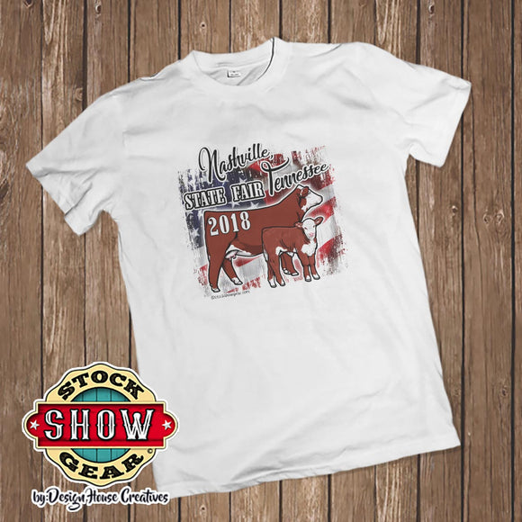 Tennessee State Fair Livestock USA T-shirt