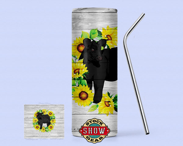 Sunflower Cattle Tumbler Designs