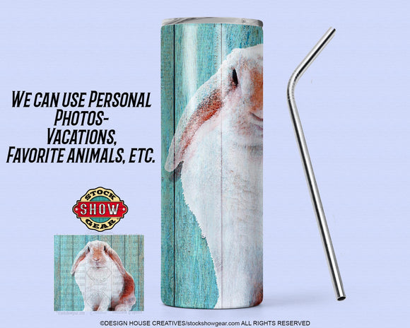 Sweet Rabbit 20oz.Tumbler with Sealing Lid and Metal Straw