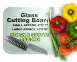 Black Angus Cow-Calf Glass Cutting Board