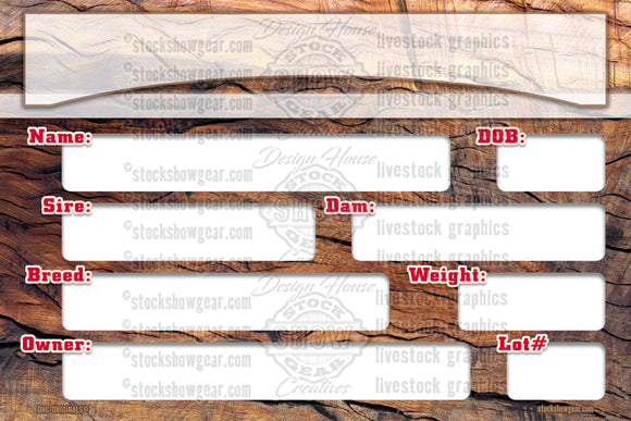 Driftwood-Pedigree Sign for Digital Download - DIY PRINTABLE