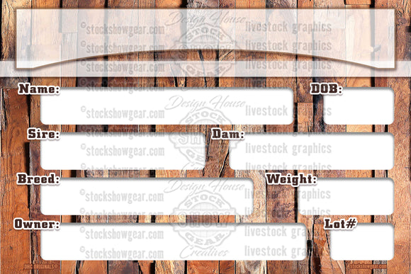 Feature Wall-Pedigree Sign for Digital Download - DIY PRINTABLE