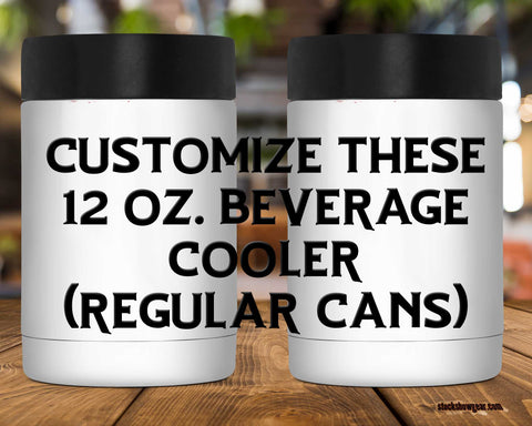 12 oz. Fat White Beverage Cooler