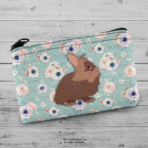 Lionhead Rabbit Floral Coin Purse