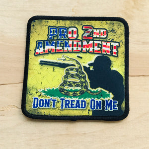 2nd Amendment-Don't Tread On Me-Iron On Patches