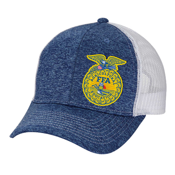 FFA™ 6 Panel Tri-Blend Jersey Mesh Snap Back Hat