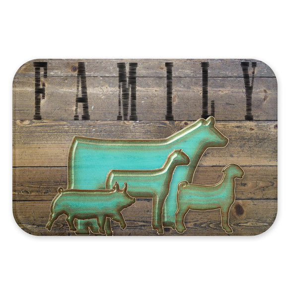 Custom Glass Cutting Board Farm Animals Steer Heifer Pig Goat Lamb Brand
