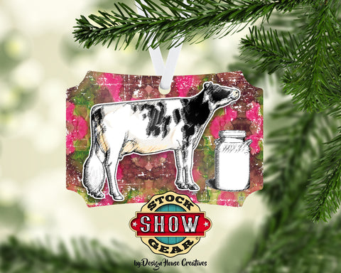 Dairy Cow Christmas Ornaments