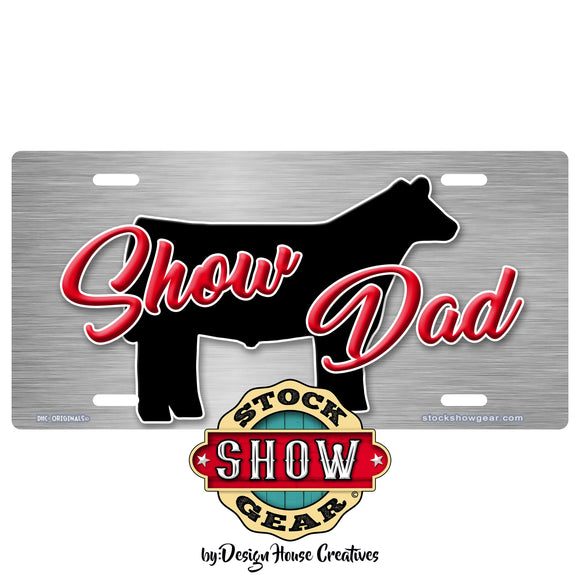 Show Steer Heifer Pig Goat Metal FX 4-H  Car Tag Auto License Plate
