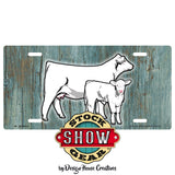 Charolais Red Hereford Black Hereford Cow Calf License Plate Personalized