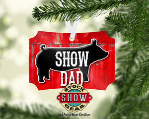 Pig Show Dad Christmas Ornament