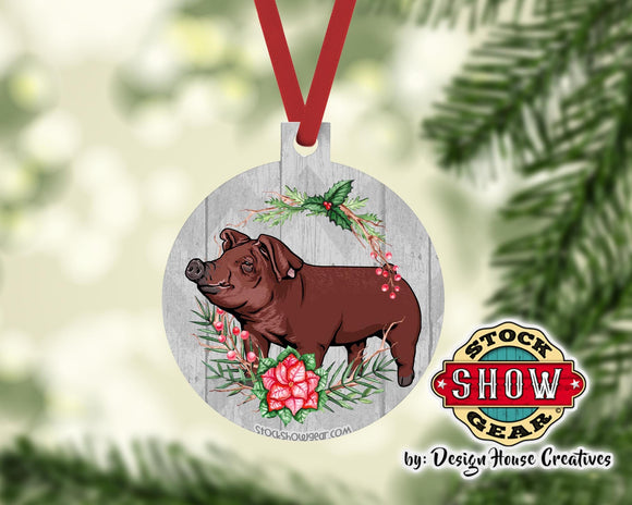 Show Pig Christmas Tree Ornaments