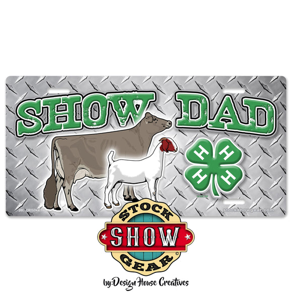 4-H Show Dad Livestock License Plate