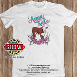 Personalized Hereford Calf T-shirt