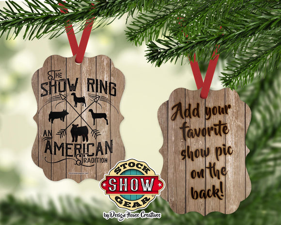 The Show Ring™ Ornament Add A Photo