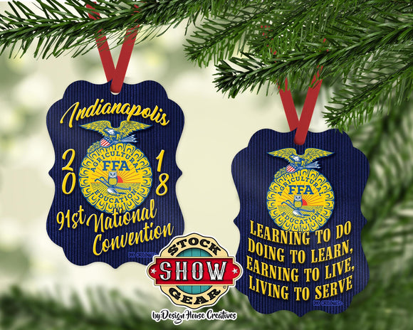 National FFA™ Organization Convention Motto Christmas Ornament