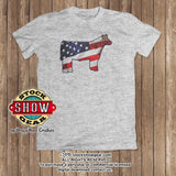 Patriotic Steer Heifer T-shirt