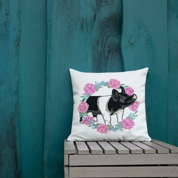 Hampshire Pig Pillow Cover Poly Linen 15x15