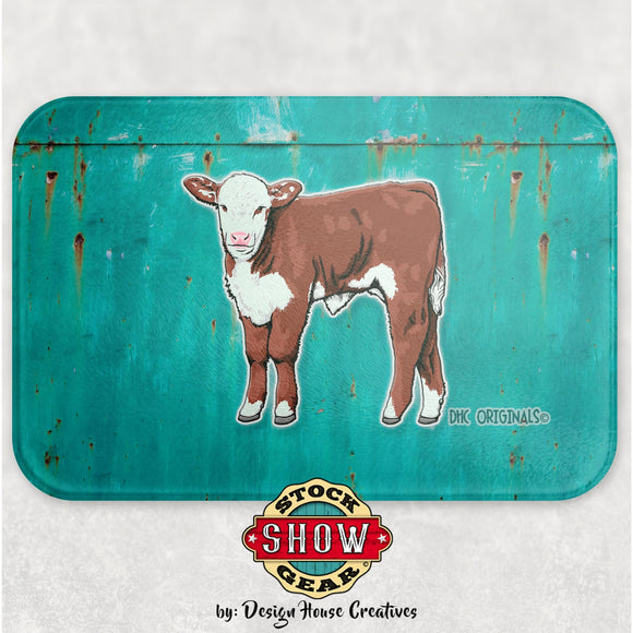 Hereford Calf Glass Cutting Board Livestock Graphics 4-H FFA County Fair Award Gift Idea