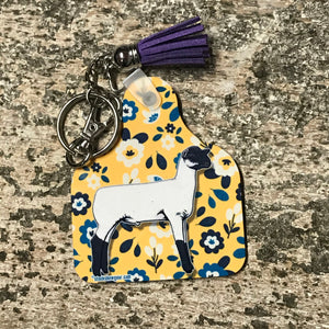 Club Lamb Ear Tag Shaped Key Tags