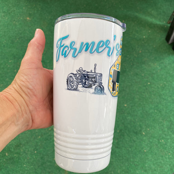 Farmer's Daughter Cattle Ear Tag Tumbler