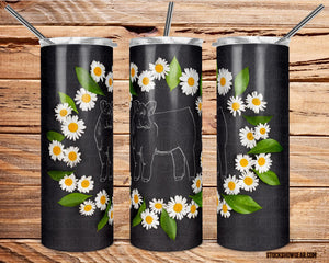 Heifer Tumbler with Sealing Lid and Metal Straw-Daisies