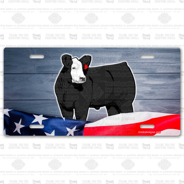 USA Cattle License Plates