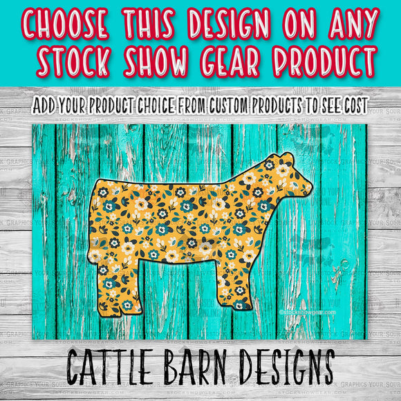 Yellow Floral Heifer Design