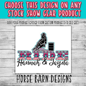 RIDE Female Barrel Racer Design