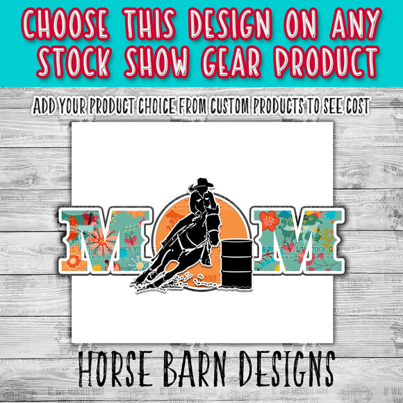 Female Barrel Racer Floral Mom Design