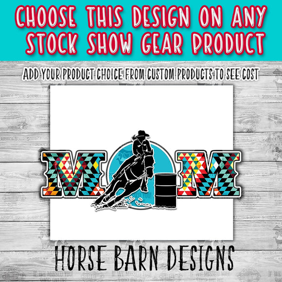 Female Barrel Racer Quilted Mom Design