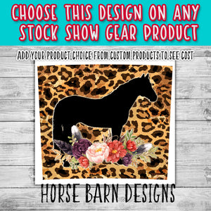 Horse Floral Swag on Cheetah Design